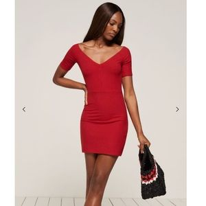 Reformation Cuba Dress in Cherry Red